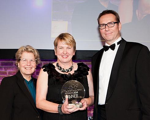 Elaine at British Accountancy Awards