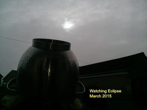 Jane watching Eclipse March 2015