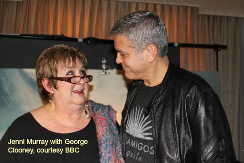Jenni meeting George clooney