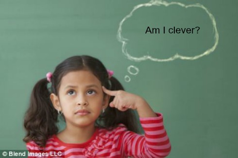 Thinking Girl via Blend Images