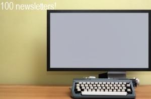 Typewriter and screen