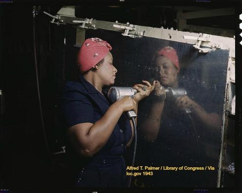 black woman at work 1944