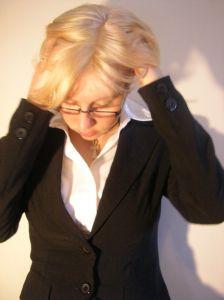 business woman hair