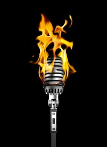 microphone inspired to flame