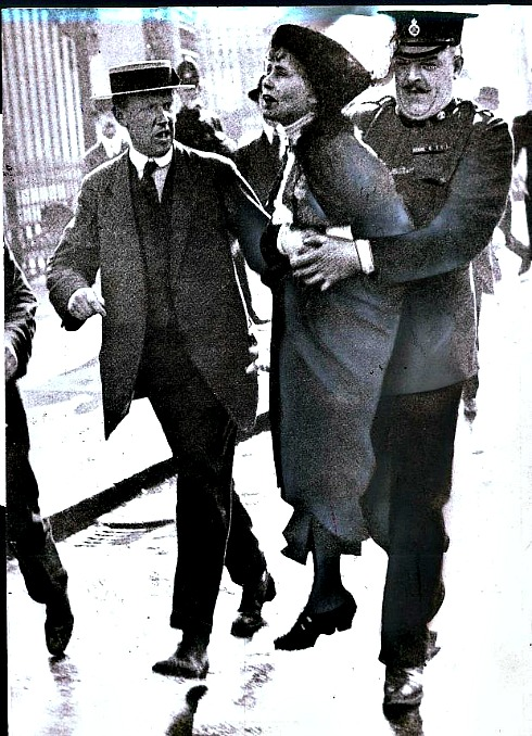pankhurst being arrested