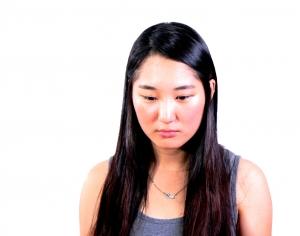 unhappy woman